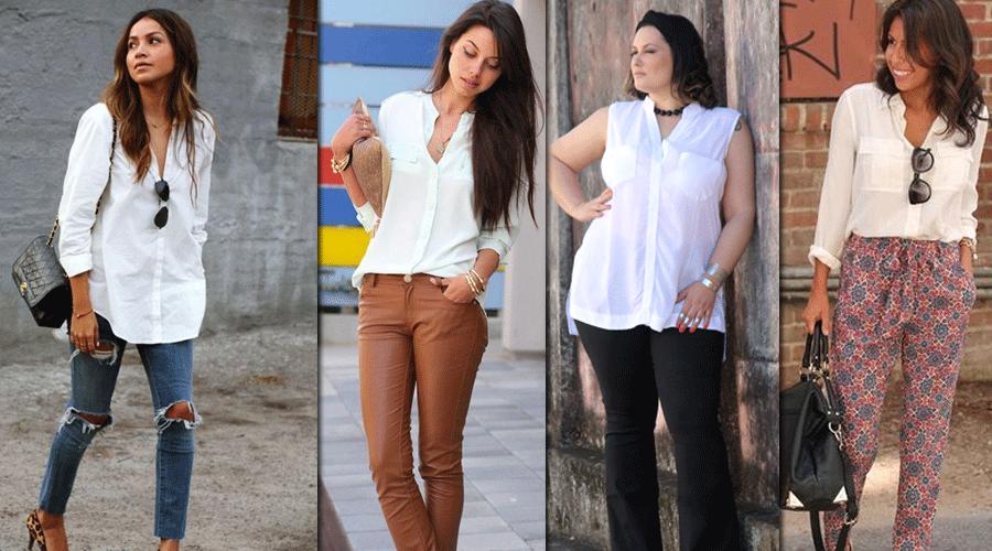 12 inspirações para usar a camisa branca feminina